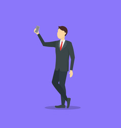 cartoon character person take selfie concept vector image