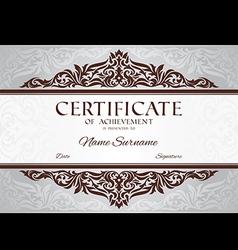Certificate achievement vector