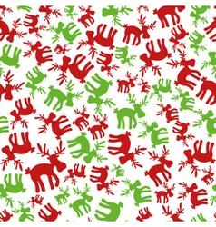 Christmas and green color reindeer seamless vector