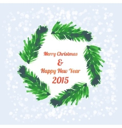 Christmas tree brunches banner vector image