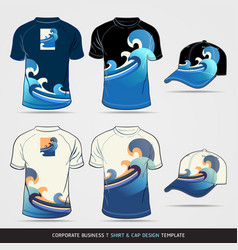 Corporate Identity Business Set T-shirt and cap De vector image