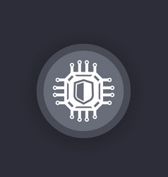 cryptography cyber security icon vector image