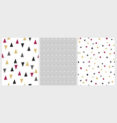 cute hand drawn abstract geometric patterns vector image