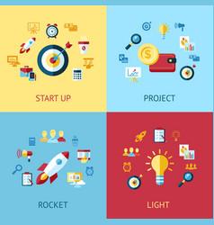 Digital blue red startup vector