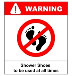 Do not step here sign isolated vector image