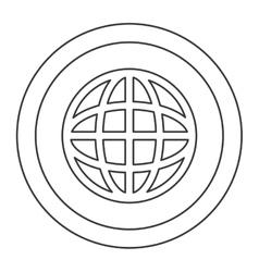 earth globe diagram inside circle icon vector image