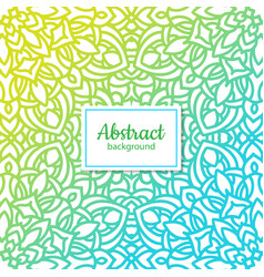 ethnic floral seamless pattern with mandala vector image