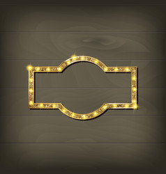 frame cinema retro light sign vector image vector image