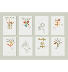 Hand drawn collection of romantic invitations to vector image