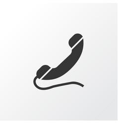 handset icon symbol premium quality isolated call vector image