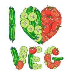 I love vegetables vector image