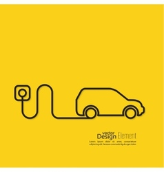 Icon of a hybrid car vector image
