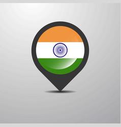 India map pin vector