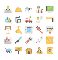 Industrial and construction icons set vector