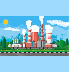 industrial factory power plant vector image