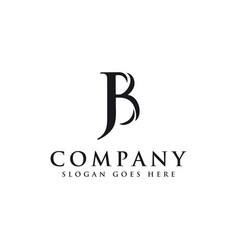 Initial letter logo j and b jb bj monogram logo vector