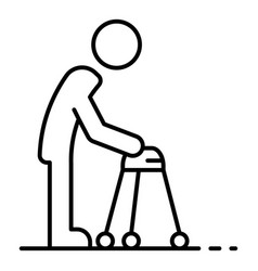 Invalid man walker icon outline style vector