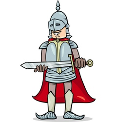 Knight with sword cartoon vector