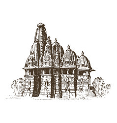 Landmark of indian architecture traditional vector