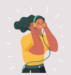 Listening language skills audio book vector
