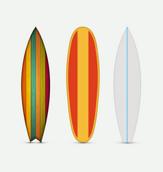 Modern colorful surfboard set vector