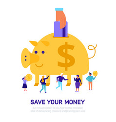 money savings flat vector image