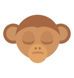 monkey head face isolated icon vector image