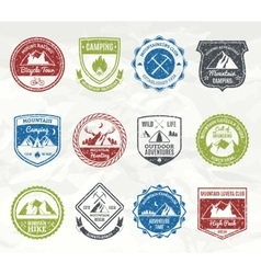 Mountain Adventure Stamps vector image