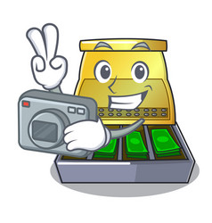 Photographer cash register with lcd display vector