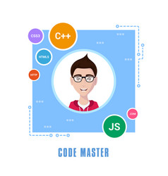 programmer man character vector image