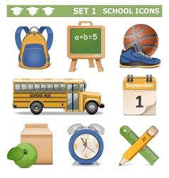 School Icons Set 1 vector