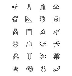 Science line icons 4 vector