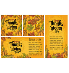Seamless pattern for thanksgiving day vintage vector