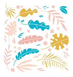 set hand drawn plants and vector image