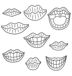 set of mouth vector image