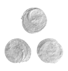 Set of round silver stains vector image