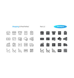 Shopping ui pixel perfect well-crafted thin vector