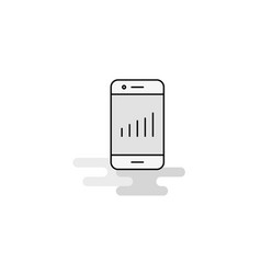 smartphone web icon flat line filled gray icon vector image