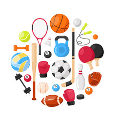 sports equipment background vector image