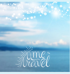 time to travel lettering card design template for vector image