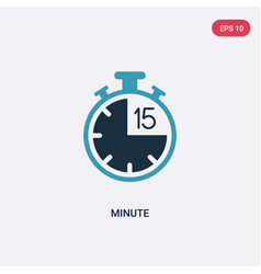 Two color minute icon from tools and utensils vector