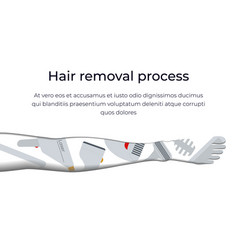 types and methods of hair removal vector image