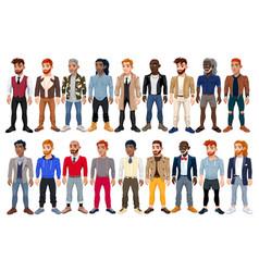 Varied male fashion avatar vector