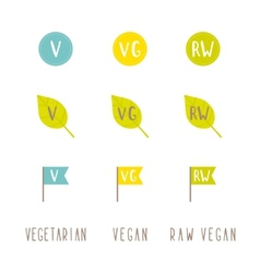 Vegetarian vegan raw vegan tags vector