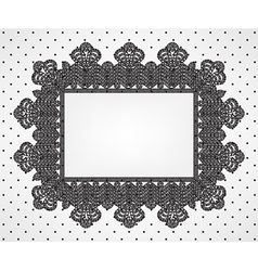 vintage frame on dot pattern vector image