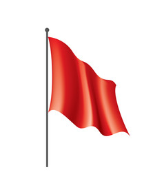 waving the red flag on a white background vector image