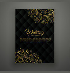 Wedding card design in mandala style vector