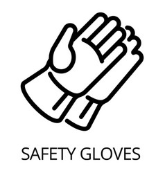 Welder safety gloves icon outline style vector