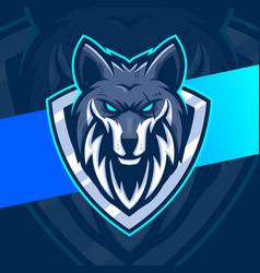 Wolves mascot esport logo character design vector