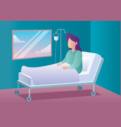 woman in hospital vector image